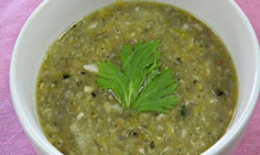 雑穀米と野菜のスープ